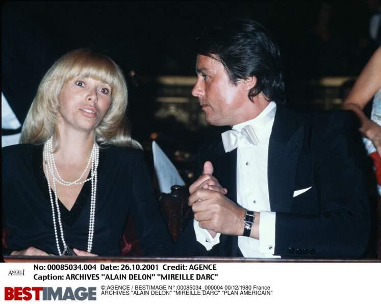 Alain Delon et Mireille Darc