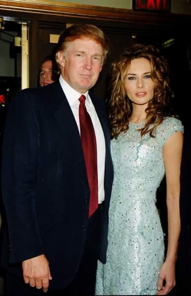 Donald Trump et Melania à la première de l'opéra Aida à New York, le 23 mars 2000