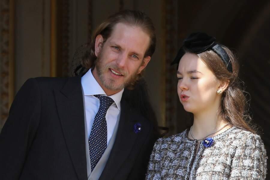 Andrea casiraghi La princesse Alexandra de Hanovre à la fête Nationale monégasque à Monaco 19 novembre 2018