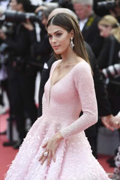 C'est une tenue qu'Iris Mittenaere aurait sans doute pu porter à l'élection de Miss France ou Miss Univers