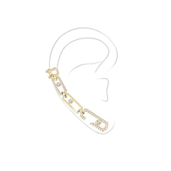 Parmi leurs créations, on craque sur l'Ear-Cuff Move Addiction Messika by Gigi Hadid (en or jaune, rose et blanc)
