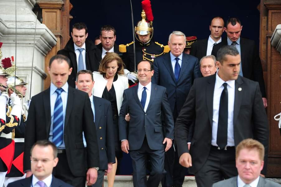 François Hollande en 2012 lors de son investiture