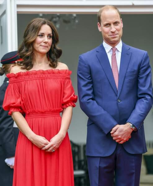 Kate et William à la Garden Party organisée en l'honneur de l'anniversaire de la reine à Berlin, le 19 juillet 2017