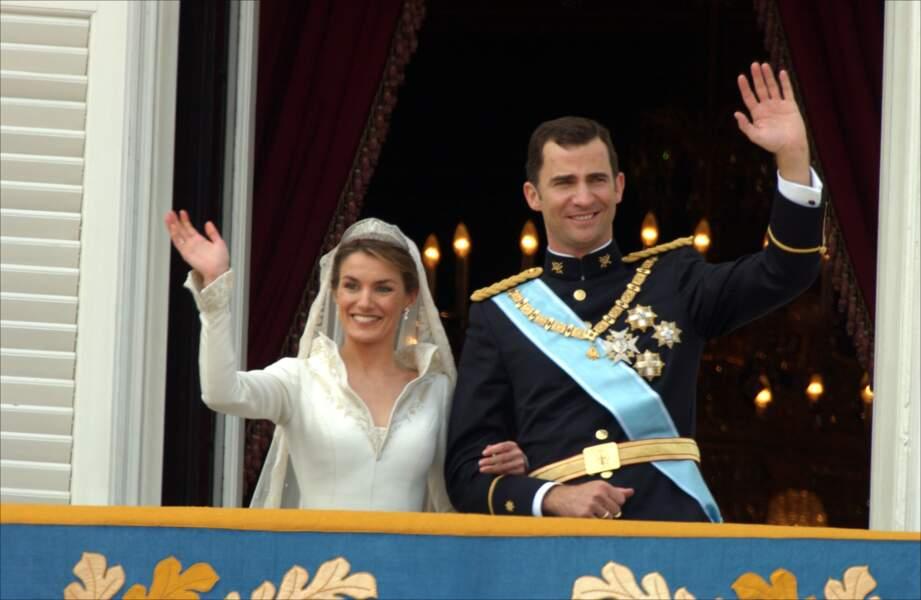 Mariage du prince Felipe d'Espagne et de Letizia Ortiz le 22 mai 2004