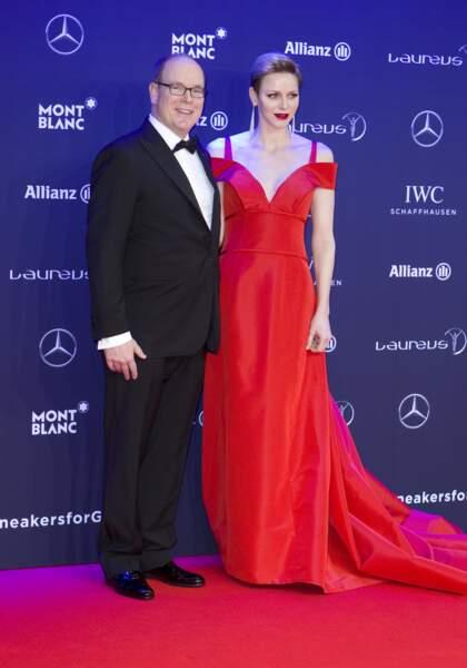 Albert II de Monaco et Charlène de Monaco aux Laureus World Sports Awards 2017