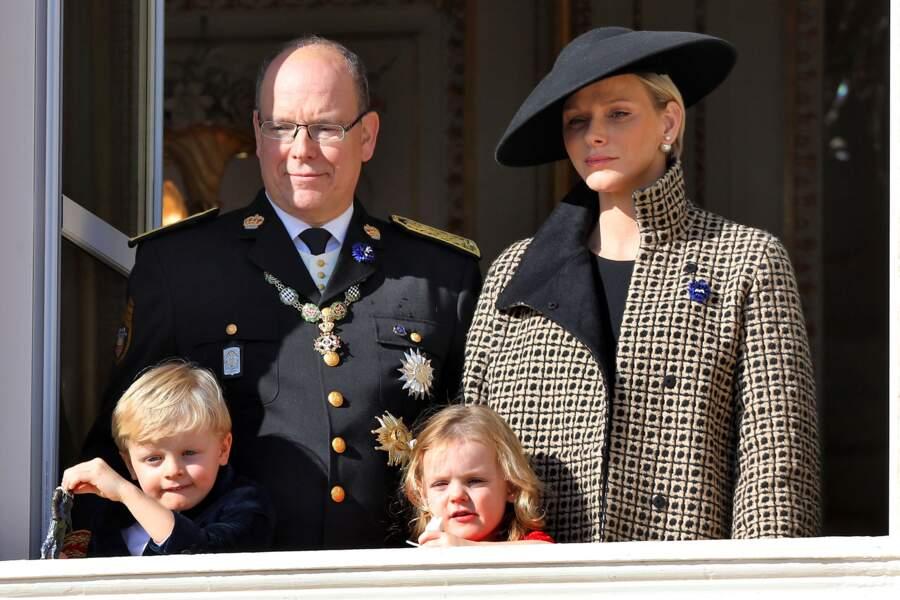 Albert, Charlène, Jacques et Gabriella lors de la fête nationale monégasque, le 19 novembre 2018