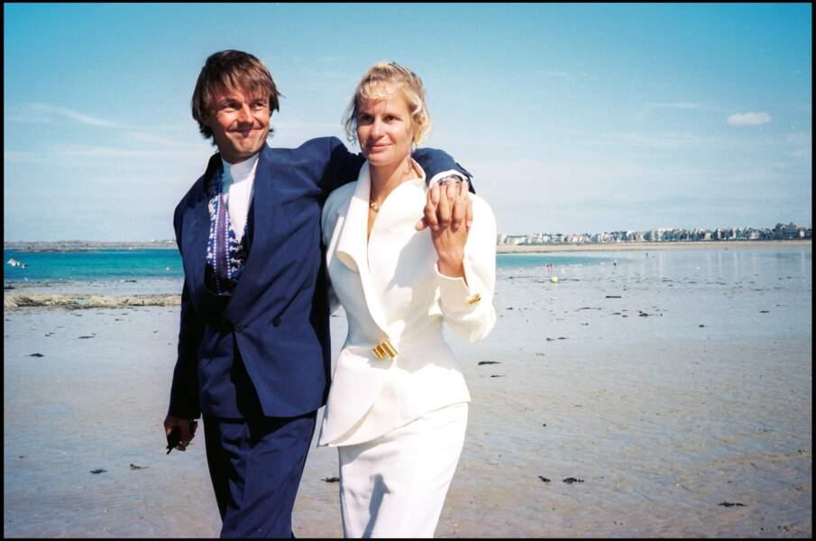 Nicolas Hulot et Isabelle Patissier à Saint Malo en 1993