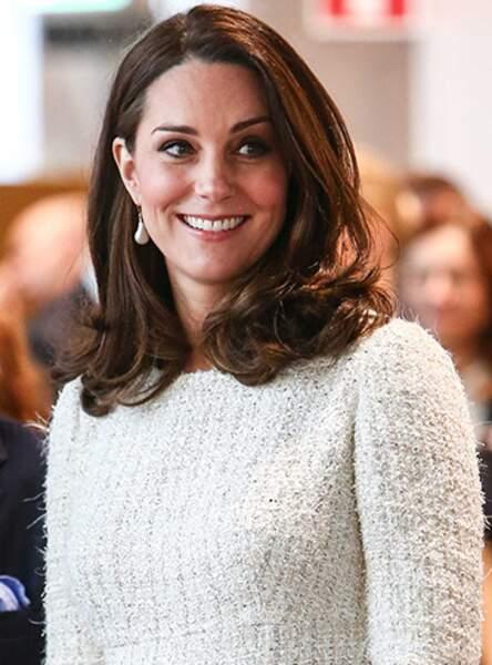 Kate Middleton et son désormais culte brushing souple