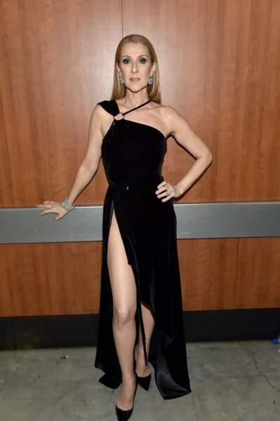 Elle portait une robe Mugler très sexy