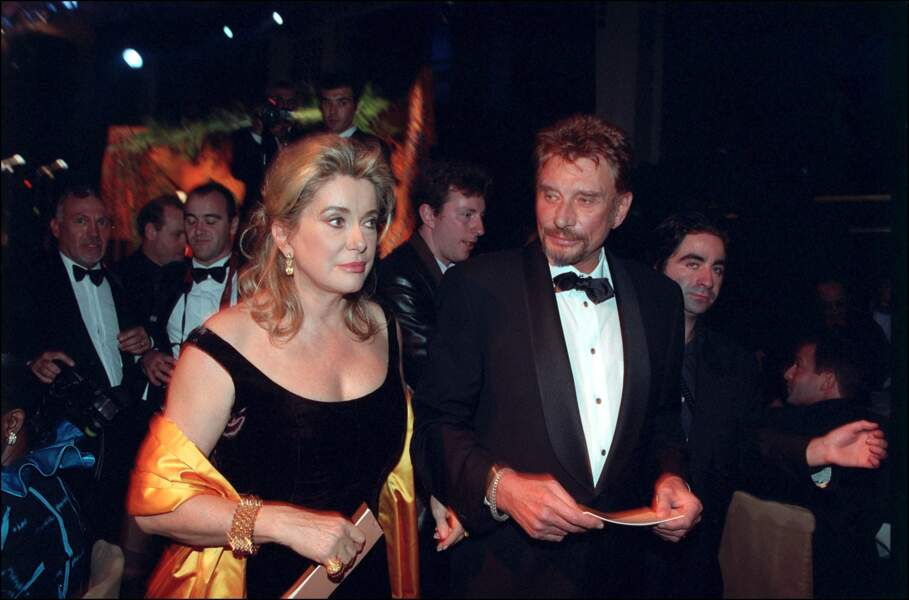Johnny Hallyday et Catherine Deneuve, en 2001.
