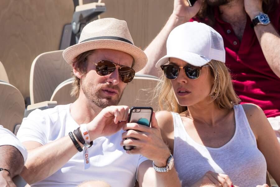 Elodie Fontan et Philippe Lacheau ont profité de leur temps libre pour se rendre à Roland Garros