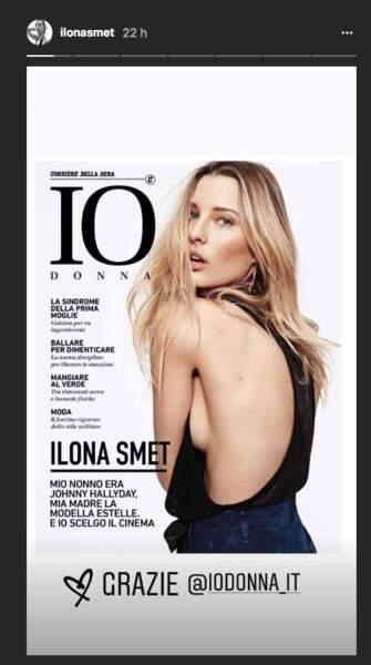 Grâce à ses efforts et son corps parfait, Ilona Smet fait la couverture du magazine italien Donna