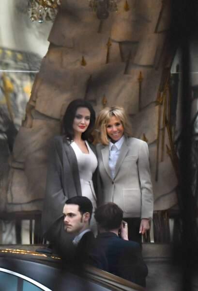 Angelina Jolie et Brigitte Macron ensemble au palais de l'Elysée