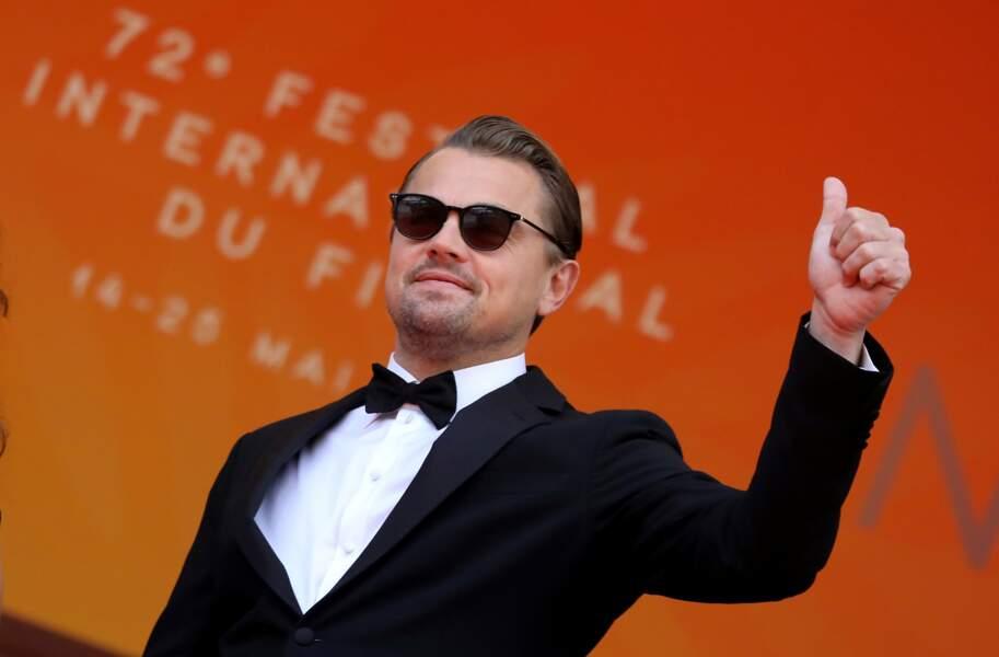 """Leonardo DiCaprio sur la montée des marches du film """"Roubaix, une lumière"""" le 22 mai à Cannes"""