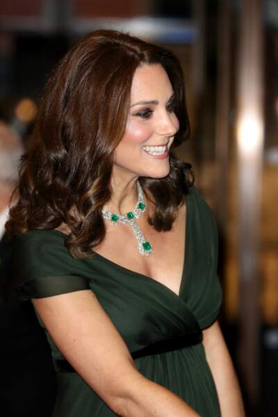Kate Middleton tout sourire aux BAFTA 2018