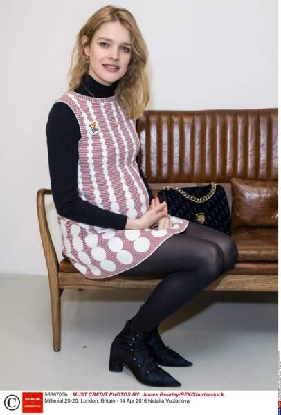 Natalia Vodianova à deux mois d'accoucher de son cinquième enfant