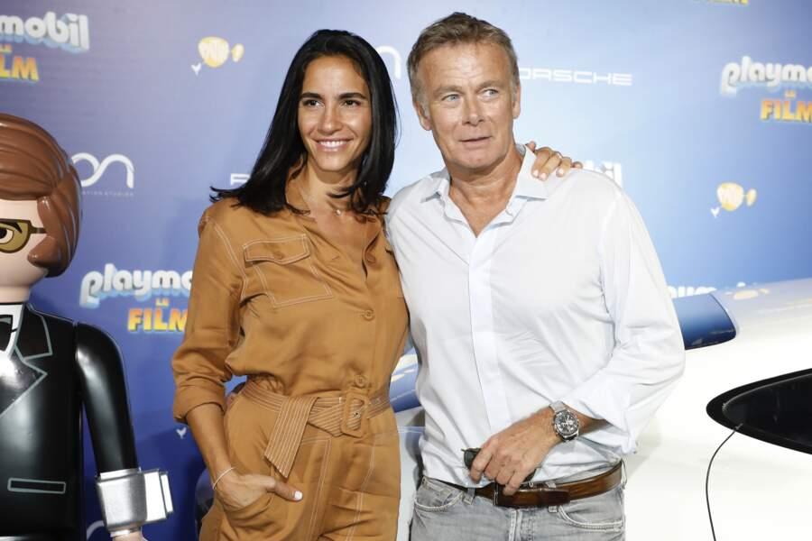 """Franck Dubosc et son épouse Danièle à l'avant-première du film """"Playmobil"""", à Paris"""
