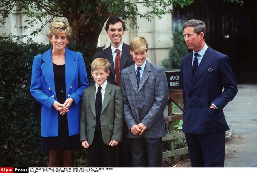 Rentrée des classes du Prince William à Eaton, en 1995