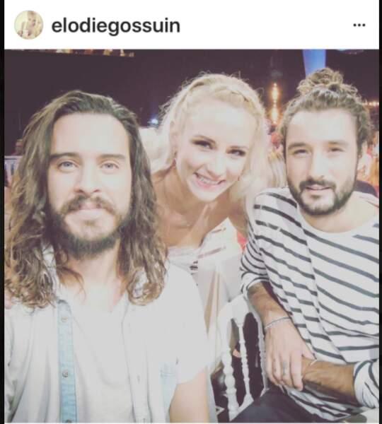 Elodie Gossuin et les Fréro Delavega
