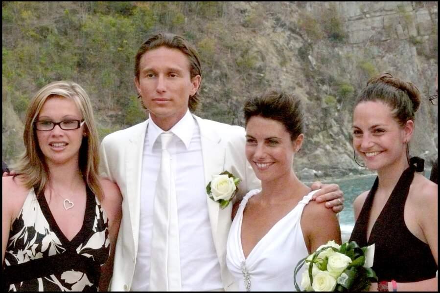 Alessandra Sublet et Thomas Volpi, bien entourés pour leurs photos de mariage
