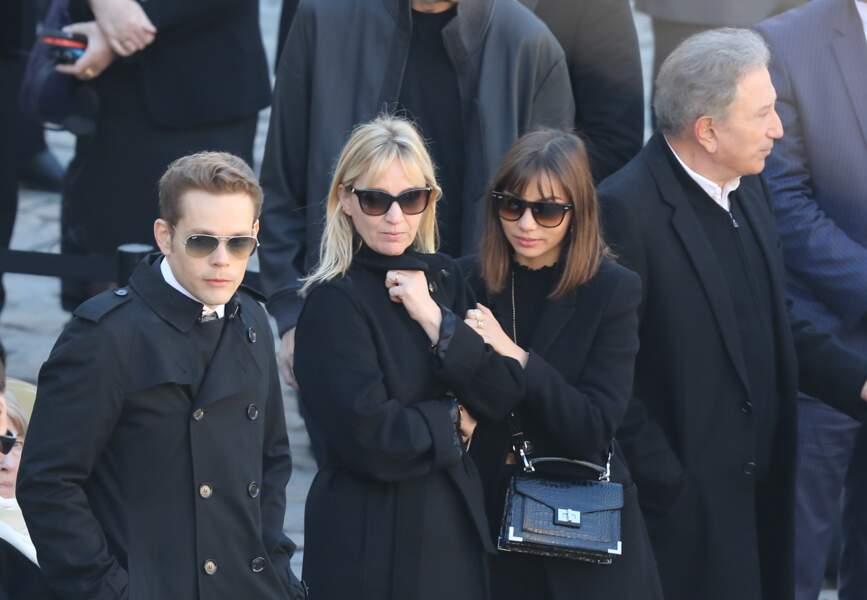 Nicolas et Katia, les enfants de Charles Aznavour lors de l'hommage national rendu à leur père