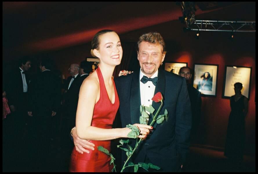 Johnny et Laeticia Hallyday lors de la soirée d'ouverture du Festival de Cannes en 1998