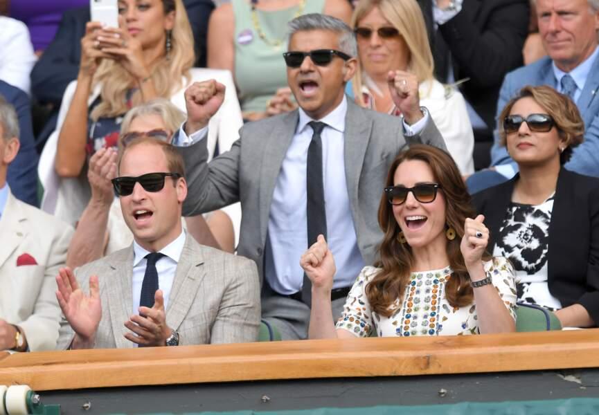 Chaque année Kate sort ses plus belles lunettes de soleil pour assister au tournois de tennis de Wimbledon