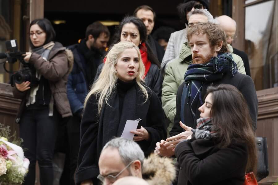 Gaël Giraudeau, le fils de Bernard Giraudeau aux obsèques de Michel Legrand