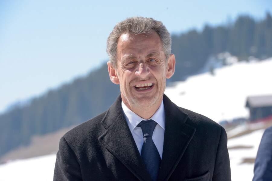 Pour ce déplacement, Nicolas Sarkozy arborait une barbe de trois jours