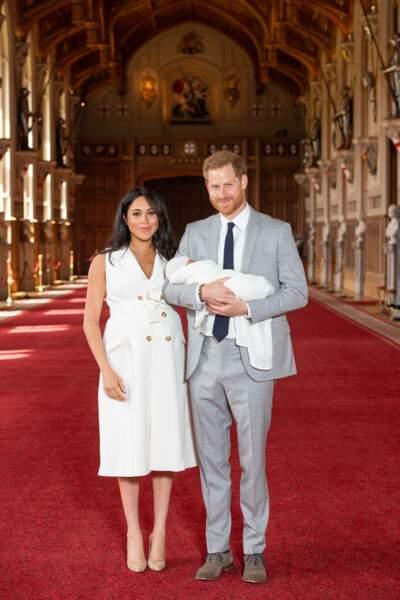 Le duc et la duchesse de Sussex sont aux anges avec leur petit garçon