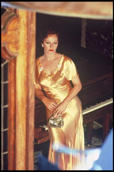 Laura Antonelli sur scène à Rome, en 1987