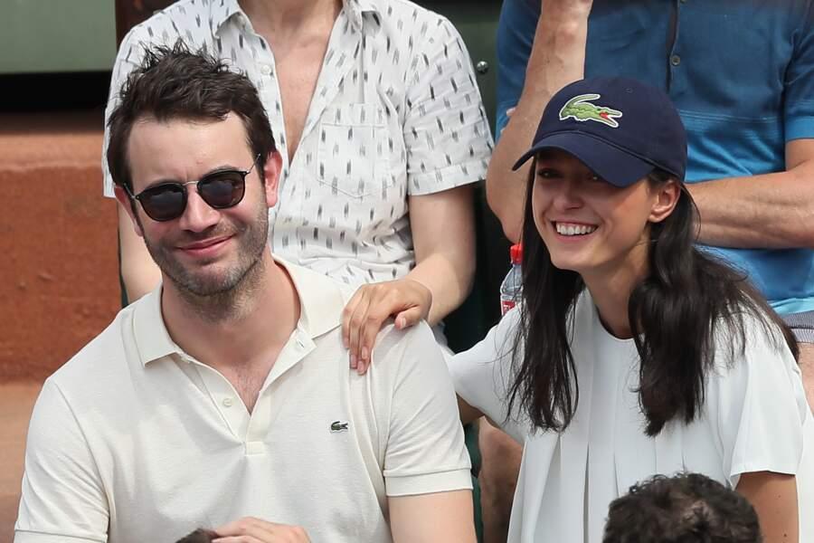 Yaniss Lespert et sa compagne Bétina Orsetti à Roland-Garros le 27 mai 2018