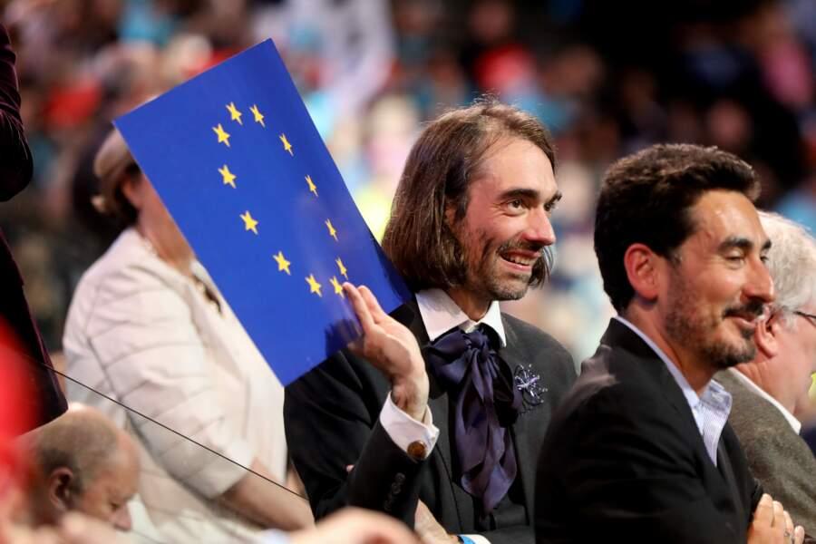 Le mathématicien Cédric Villani à l'AccorHotels Arena à Paris, le 17 avril 2017