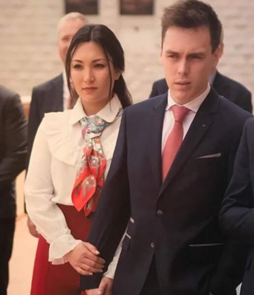 Louis Ducruet et Marie Chevallier, jeunes fiancés inséparables le 20 mai 2018