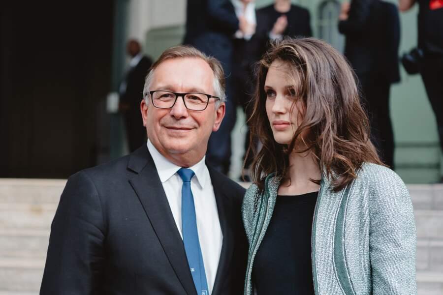 Marine Vacth, l'une des égéries Chanel, présente elle aussi pour la soirée-hommage à Karl Lagerfeld, à Paris