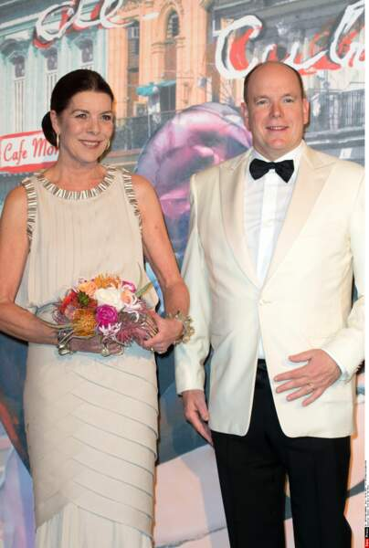 Le prince Albert II de Monaco et sa soeur Caroline de Monaco, princesse de Hanovre lancent les festivités