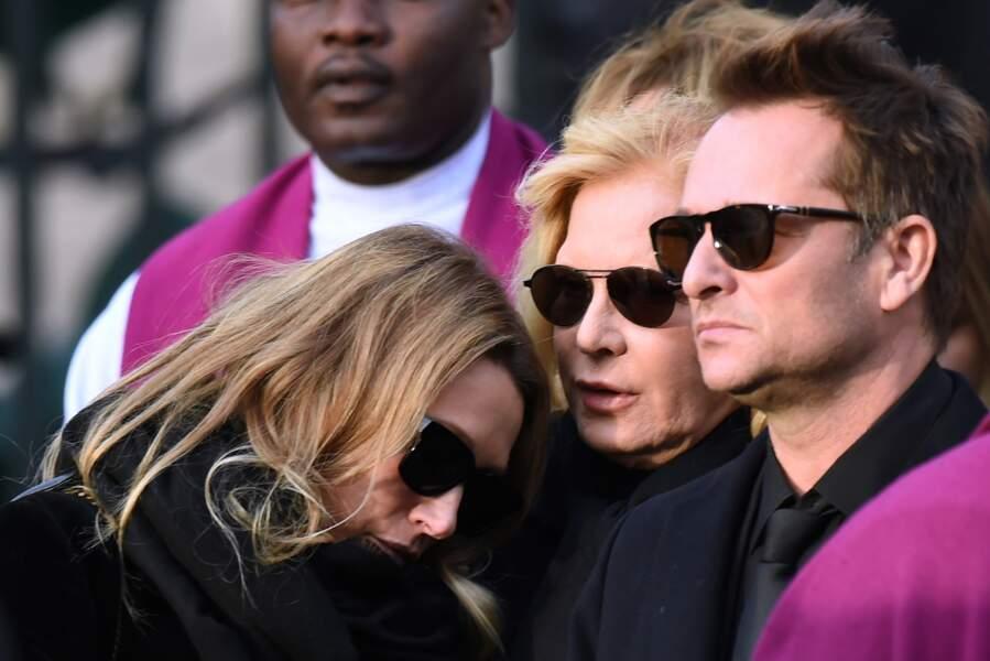 David Hallyday, Sylvie Vartan et Laura Smet à la Madeleine, le 9 décembre 2017.