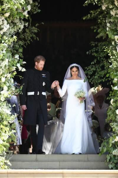 Le prince Harry et Meghan Markle très belle en robe de mariée