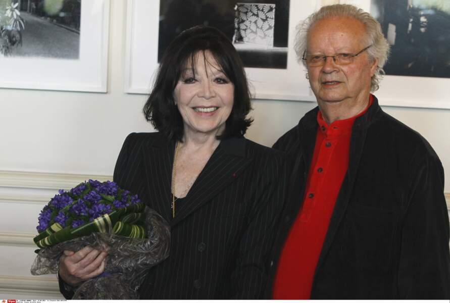 Juliette Greco et son mari Gérard Jouannest à Paris en 2012