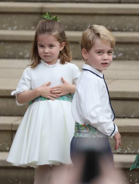 La princesse Charlotte de Cambridge et le prince George de Cambridge