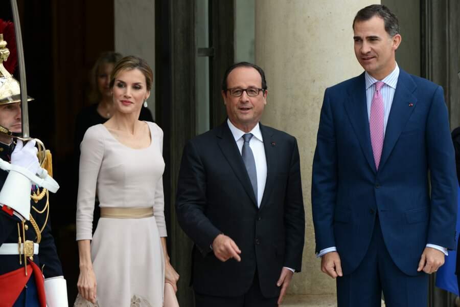 François Hollande avec le roi et le reine d'Espagne