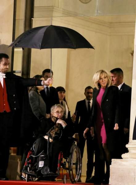Brigitte Macron et la Première dame israélienne Nechama Rivlin ce 23 janvier à l'Elysée