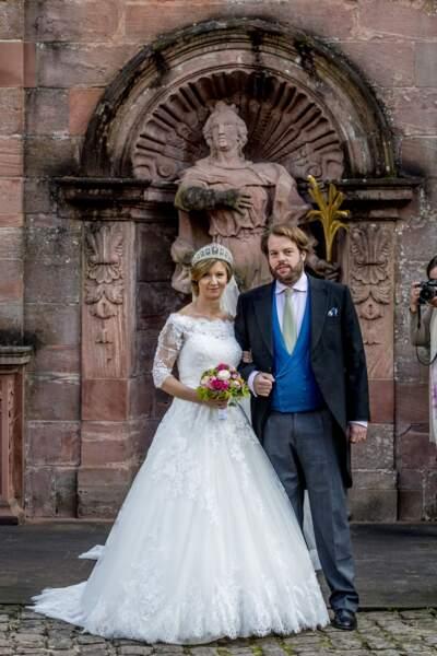 Mariage du prince Ferdinand de Leiningen et de Viktoria Luise de Prusse à Amorbach (Allemagne) le 16 septembre 2017