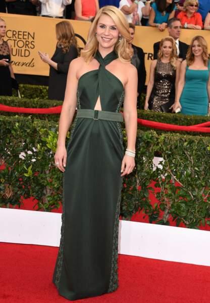 Claire Danes en robe kaki Marc Jacobs