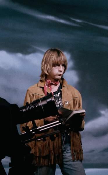 """En 1986 sur le tournage du clip de """"Mistral Gagnant"""""""
