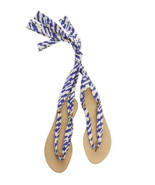 Sandales en cuir à lacets interchangeables, Eres x Nupié, à partir de 190 €.