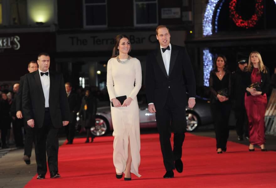 """Kate et William à la première du film """"Mandela : Un long chemin vers la liberté"""" le 5 décembre 2013 à Londres"""