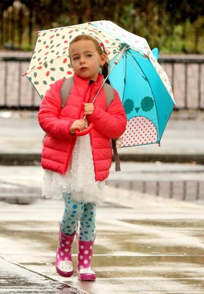 Marion sous la pluie