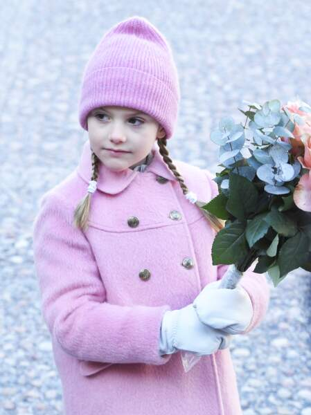 La princesse Estelle (fille de Victoria de Suède) lors d'une cérémonie à Stockholm le 12 mars 2019