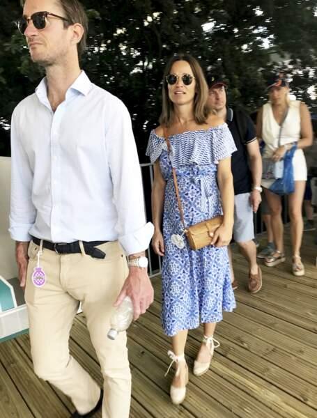 Pippa Middleton enceinte et son mari au Goodwood Festival of Speed